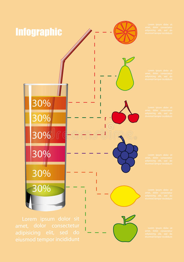 Download Nonalcoholic Cocktail Infographics Stock Photography - Image: 25605202