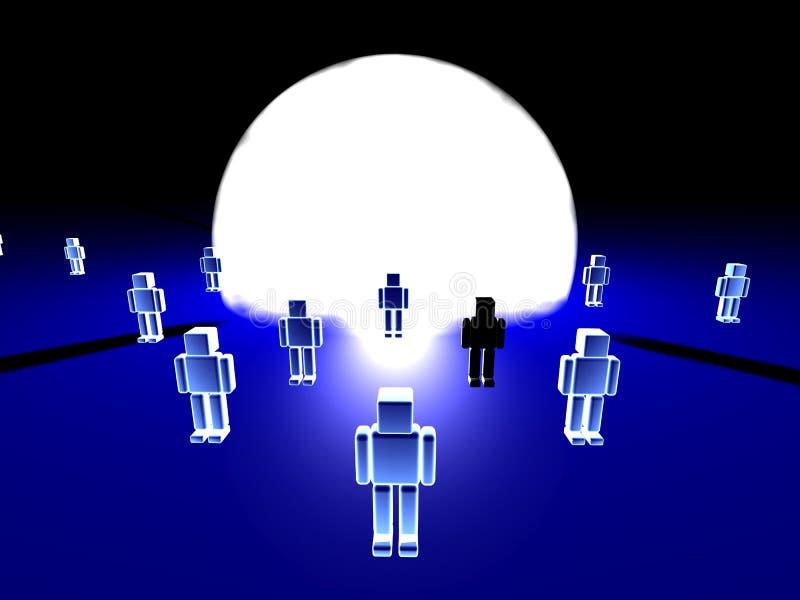 Download 光 库存例证. 插画 包括有 人们, 象征, 亮光, 执行, 蓝色, 少数, 性能, 抽象, 回报, 人群, 竹子 - 177715