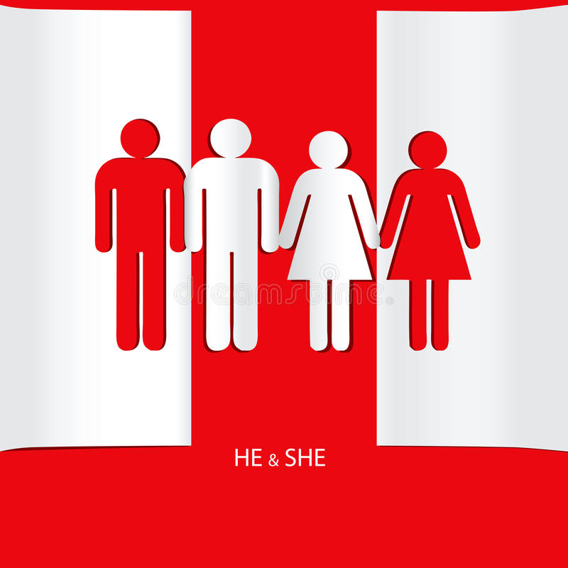 He and she