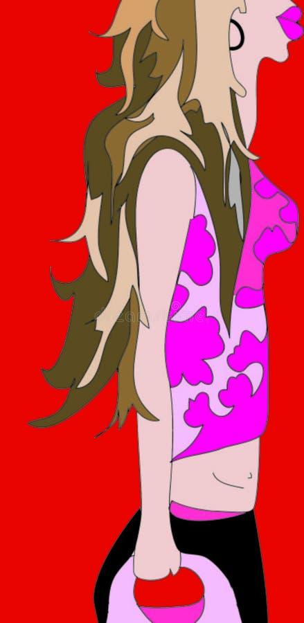 She royalty free illustration