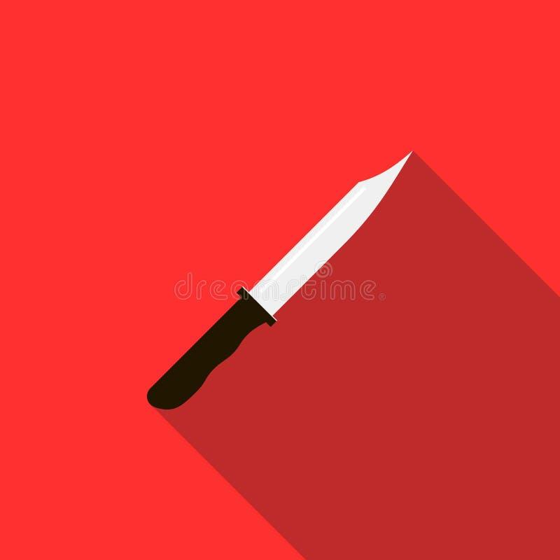 Nonfolding militarna nożowa ikona, mieszkanie styl zdjęcia royalty free