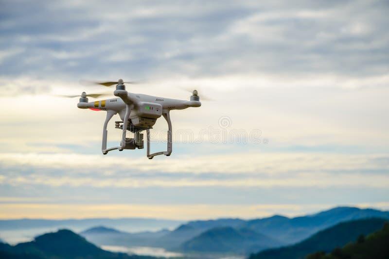 NONG KHAI; THAILAND - JAN 3; 2017: Drone Dji Phantom 3 with high royalty free stock photography