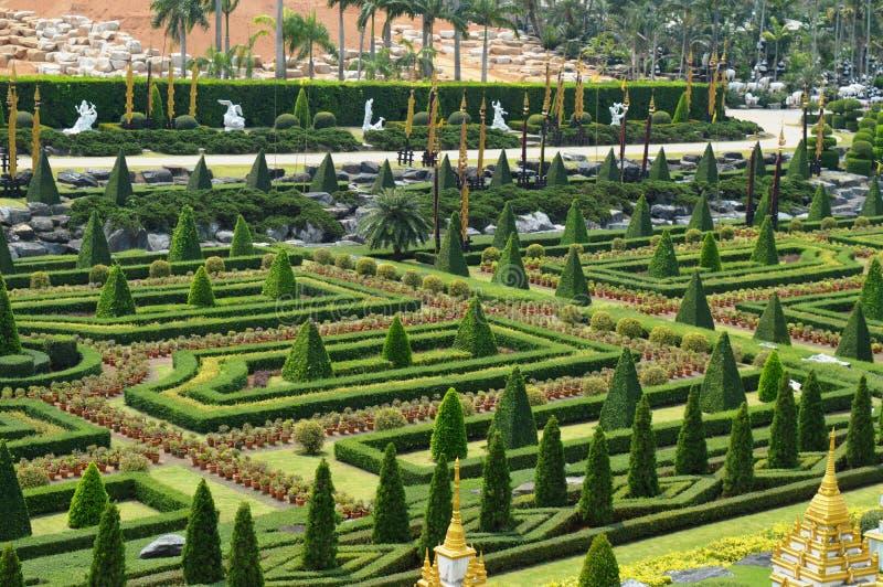 NONG NOOCH GARDEN IN PATTAYA. Nong Nooch is a beautiful garden in Pattaya royalty free stock photo