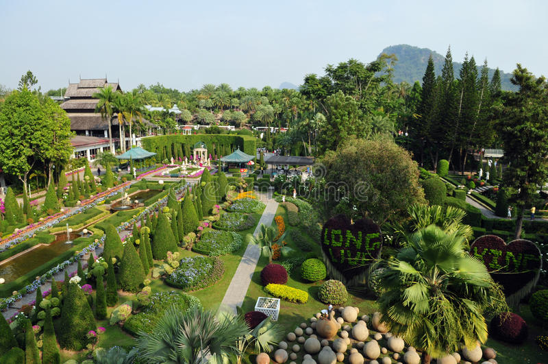Download Nong Nooch park stock photo. Image of season, leaf, asia - 13302210