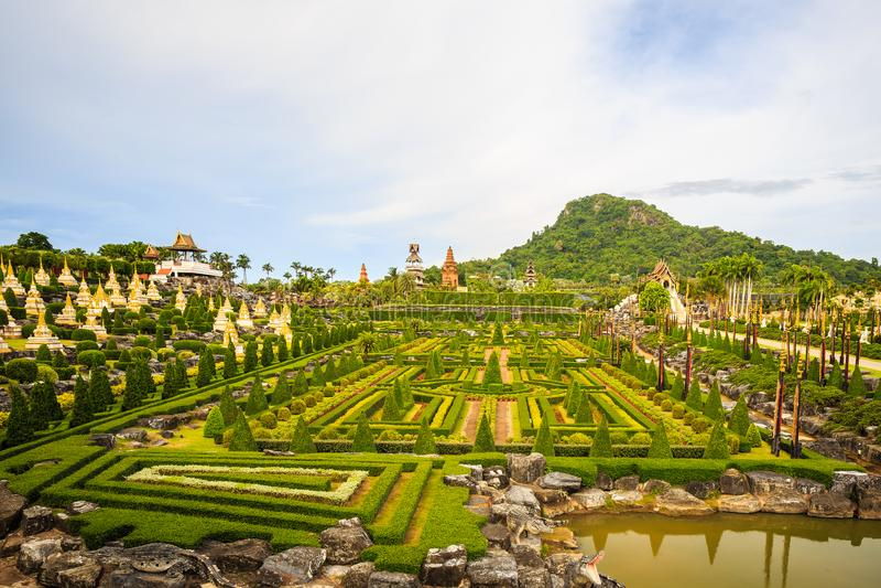 Nong Nooch Tropikalny ogród botaniczny zdjęcia royalty free