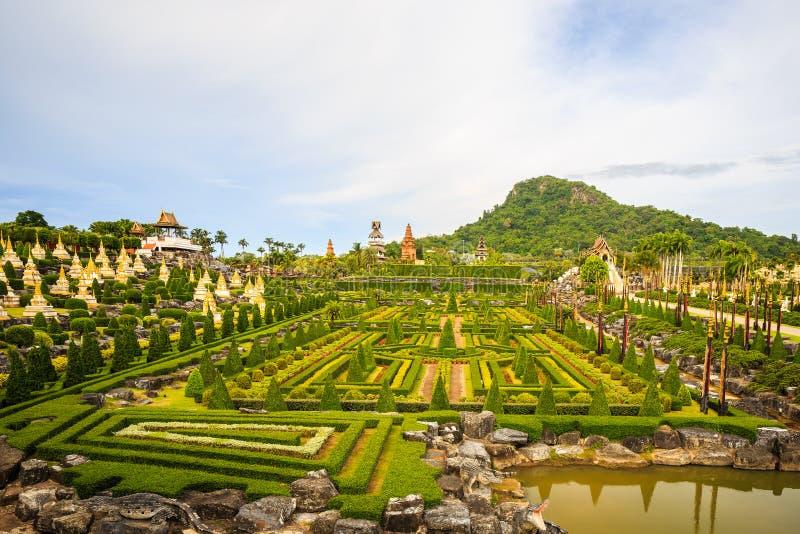 Nong Nooch tropisk botanisk trädgård royaltyfria foton