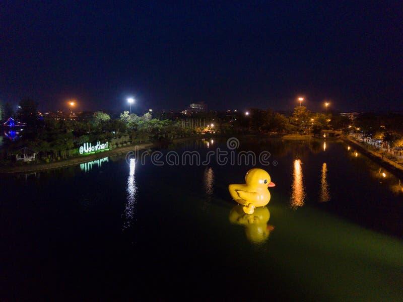 Nong Prajak Public Park (Udon Thani, Thailand), Markstein im Udon stockfoto
