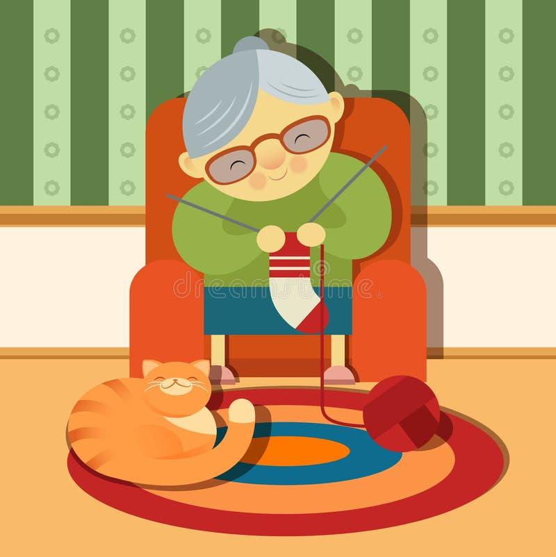 nonna illustrazione vettoriale