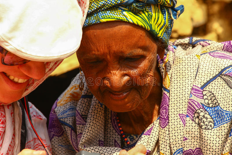 Nonna africana fotografie stock