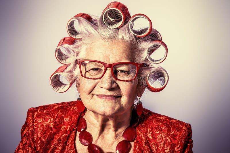 Nonna alla moda fotografie stock libere da diritti