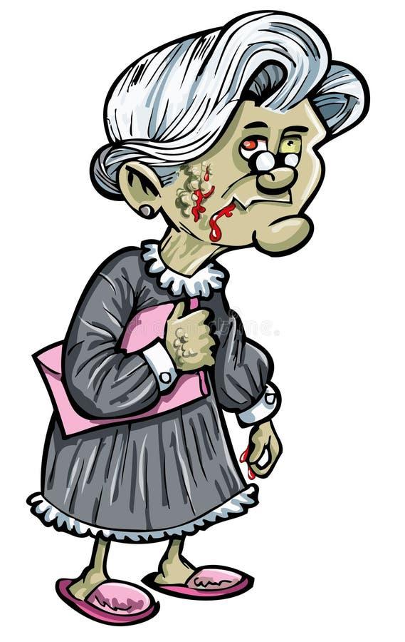 Nonna delle zombie illustrazione di stock
