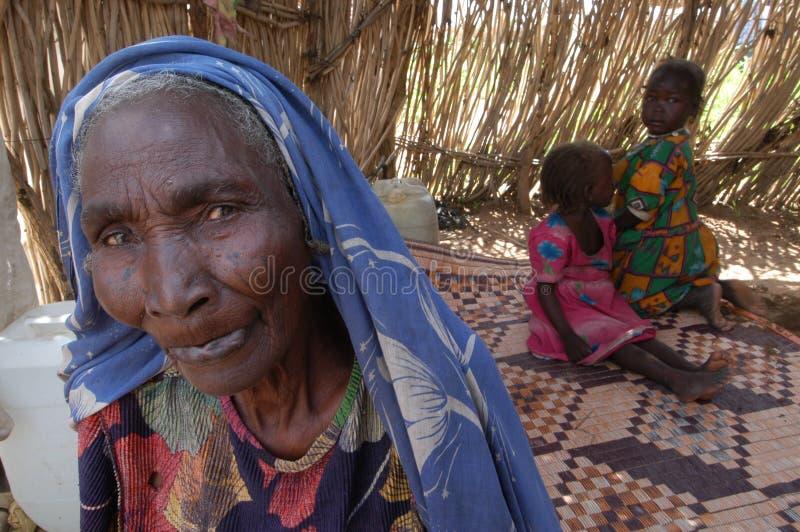 Nonna in Darfur immagini stock libere da diritti