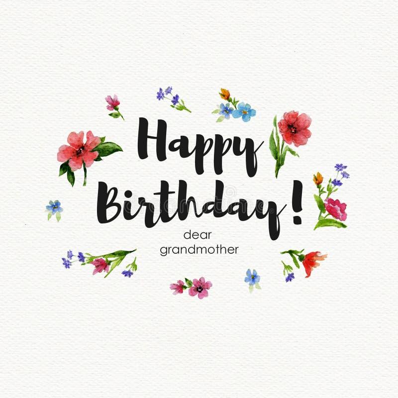 Estremamente Nonna Di Buon Compleanno Della Cartolina D'auguri Cara  BB77