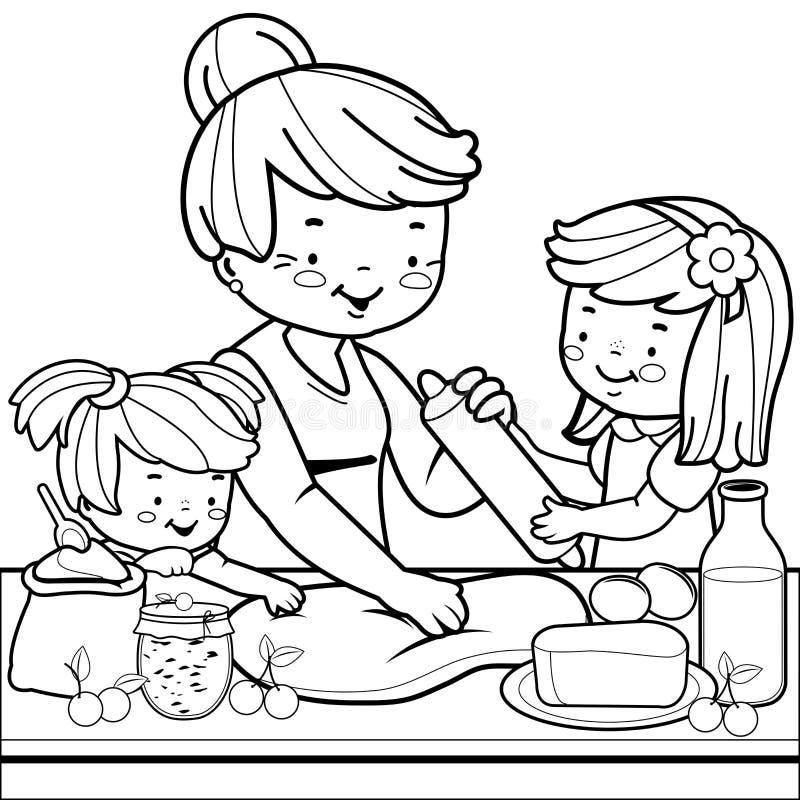Beautiful cucina da colorare pictures home interior - Bambine che cucinano ...