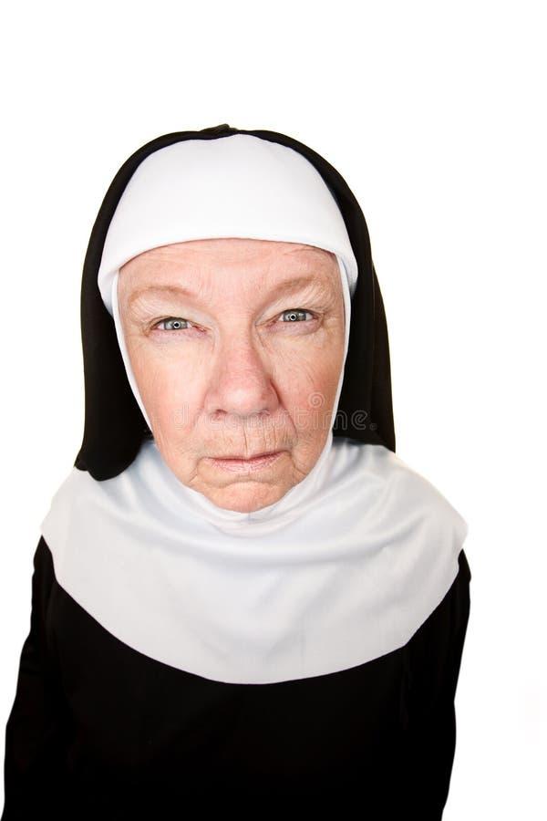 Nonne drôle image libre de droits