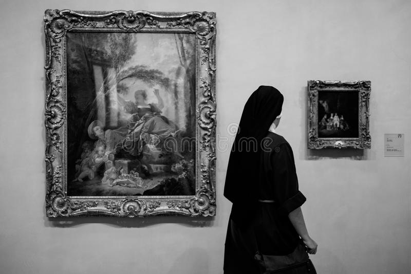 Nonne in EL Parado lizenzfreie stockfotos