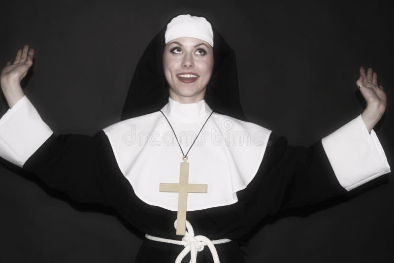 Nonne heureuse image libre de droits