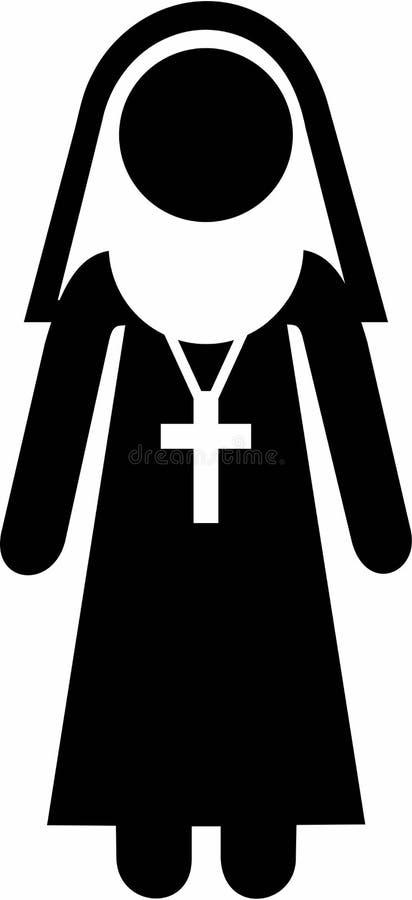 Nonne Pictogram Symbol lizenzfreie abbildung