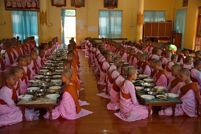 Nonnen der jungen Mädchen des Gebets lizenzfreies stockbild