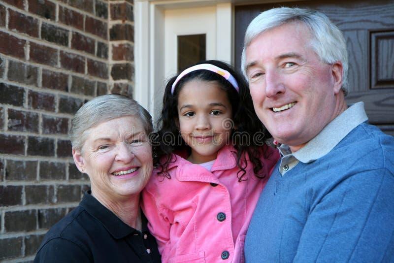 Nonni con la nipote immagini stock libere da diritti