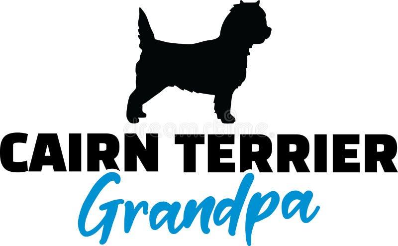Nonno di Terrier di cairn con la siluetta royalty illustrazione gratis