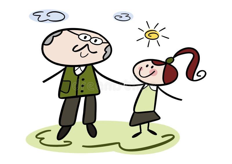 Nonno e nipote royalty illustrazione gratis