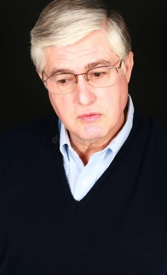 Nonno triste fotografie stock libere da diritti