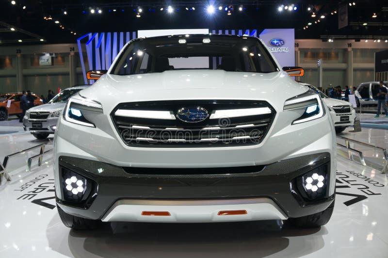 NONTHABURI - 23 ΜΑΡΤΊΟΥ: Μελλοντική έννοια Viziv Subaru στην επίδειξη στοκ εικόνα με δικαίωμα ελεύθερης χρήσης