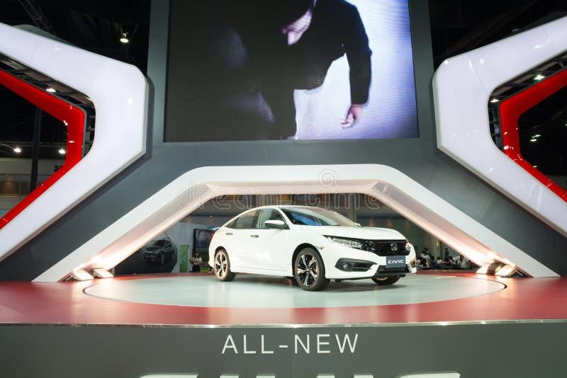 NONTHABURI - 23 ΜΑΡΤΊΟΥ: ΝΕΟ Honda Civic 2016 στην επίδειξη στα 37 στοκ εικόνες