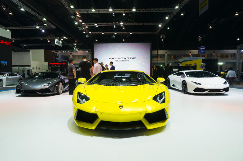 NONTHABURI - 23 ΜΑΡΤΊΟΥ: Lamborghini Aventador στην επίδειξη στα 3 στοκ φωτογραφίες