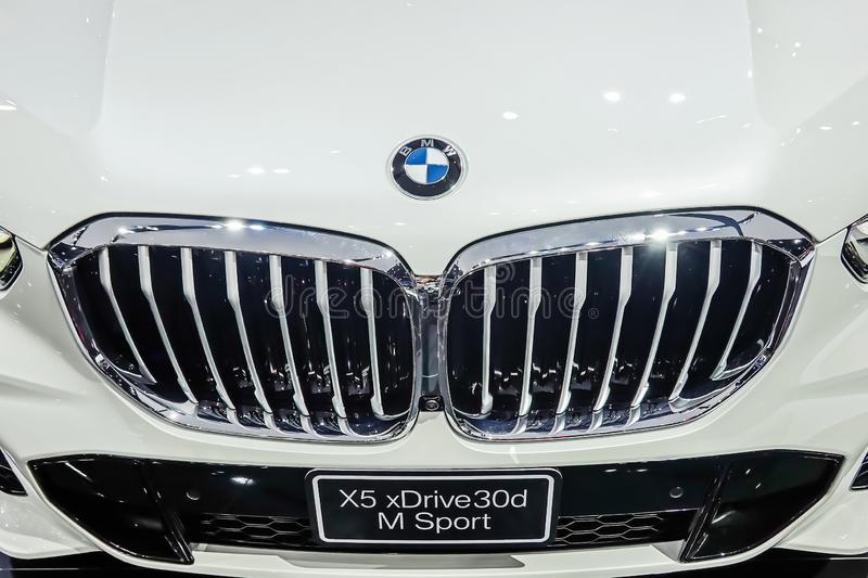 Bayerische Motoren Werke AG commonly known as BMW is a German automobile, motorcycle and engine manufacturing company founded. NONTHABURI - April 3,2019 royalty free stock images