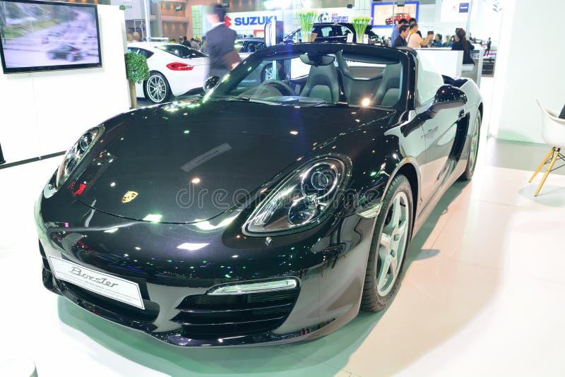 NONTHABURI - 1 DE DICIEMBRE: Exhibición del coche de Porsche Boxster en Tailandia imágenes de archivo libres de regalías