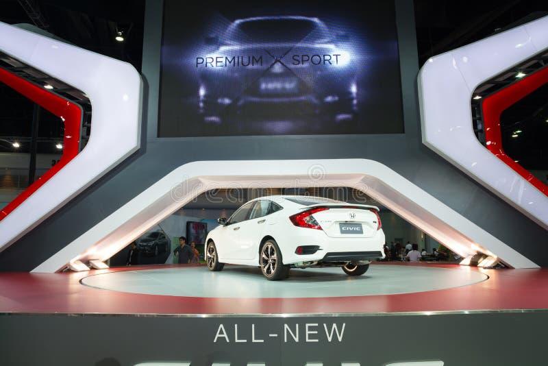 NONTHABURI - 23 DE MARÇO: Honda Civic NOVO 2016 na exposição nos 37 fotografia de stock