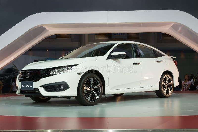 NONTHABURI - 23 DE MARZO: NUEVO Honda Civic 2016 en la exhibición en los 37 fotografía de archivo libre de regalías