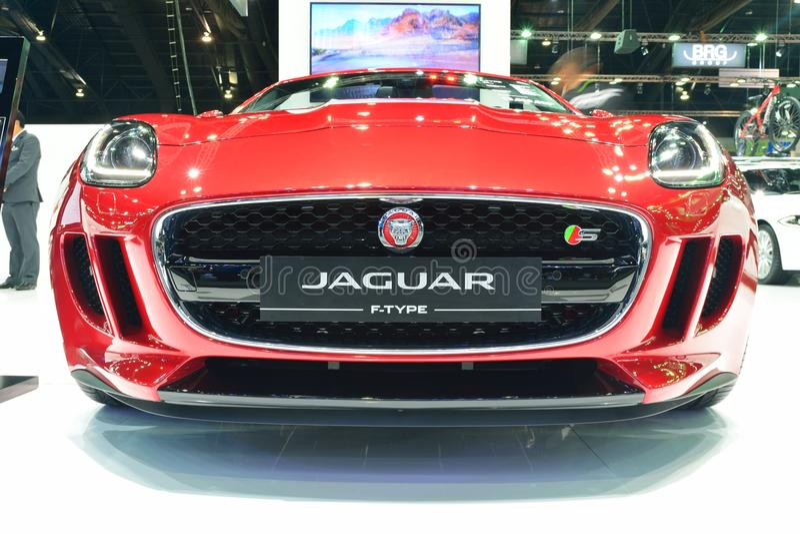 NONTHABURI - DECEMBER 1: Jaguar F-type car display at Thailand I stock photography