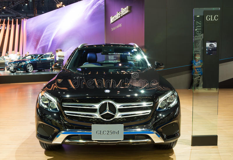 NONTHABURI - MARCH 23: NEW Mercedes Benz GLC 250 d offroad on di. Splay at The 37th Bangkok International Motor show on MARCH 23, 2016 in Nonthaburi, Thailand stock image
