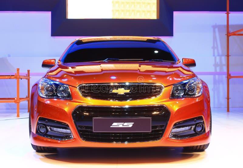 NONTHABURI - NOVEMBER 28: Chevrolet SS bil på skärm på 30na royaltyfri fotografi