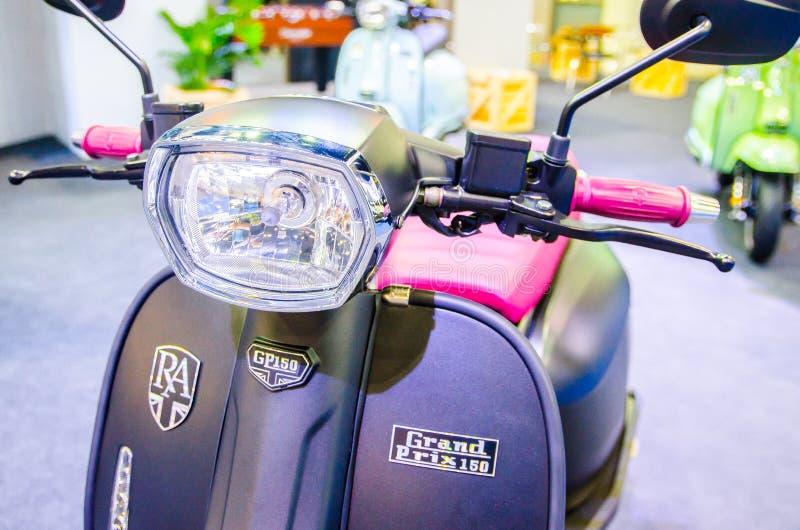 Black Motorbike Scooter Vespa GTS Super 300 Abs At Bangkok