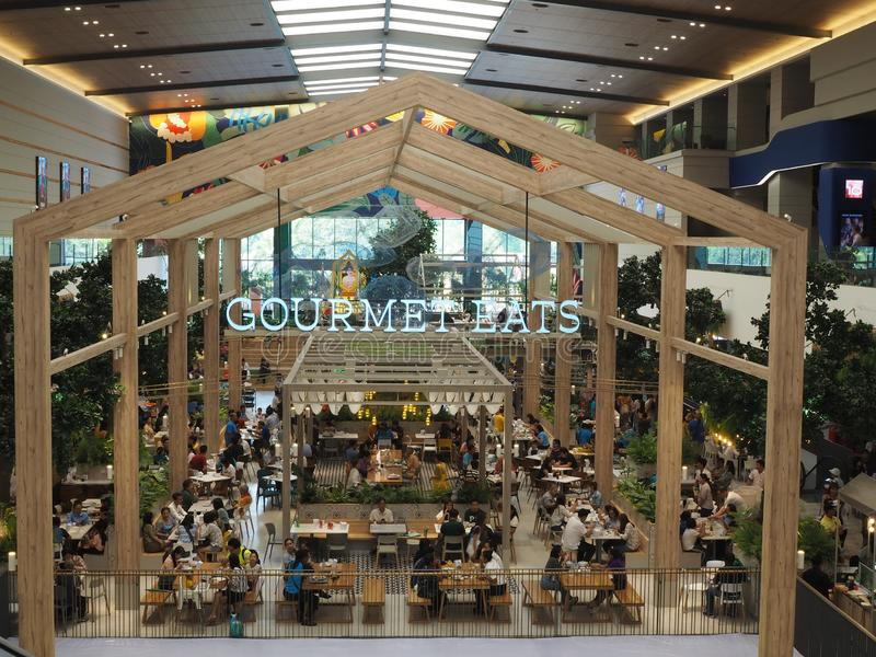 The new food hall in The Mall Ngamwongwan 6th floor named royalty free stock photography