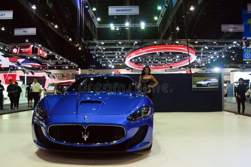 NONTHABURI, THAILAND - 6. Dezember: Maserati Gran Turismo Lux lizenzfreie stockbilder
