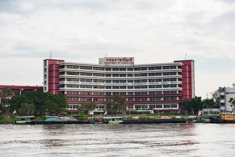 NONTHABURI, THAILAND - 20. Januar 2016: Abteilung des Korrekturerrichtens Abteilung von den Korrekturen Hauptsitz gehabt im River stockfotografie