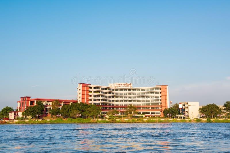 NONTHABURI, THAILAND - 20. Januar 2016: Abteilung des Korrekturerrichtens Abteilung von den Korrekturen Hauptsitz gehabt im River lizenzfreie stockbilder