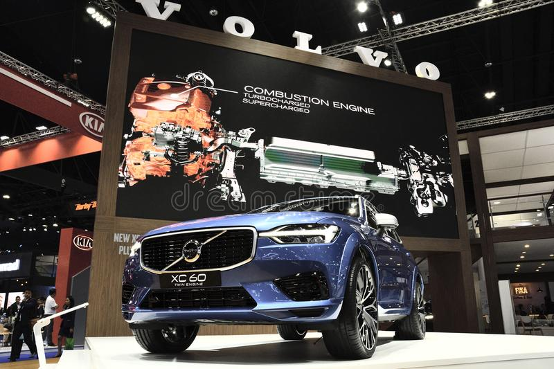 Volvo XC60 on display editorial photography  Image of panel