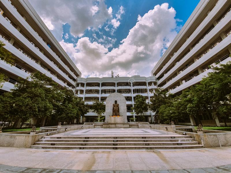 Nonthaburi,Thailand ,Octobet 16, 2019, Beautiful View of Ministry of Public Health, overlooking statue yard and office building. Nonthaburithailand stock photo