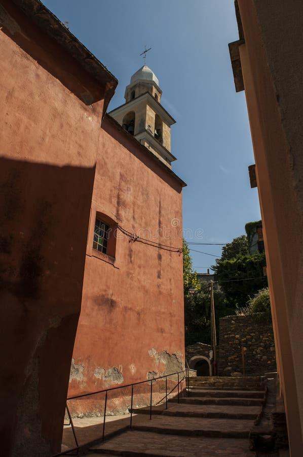 Nonza, Haute Corse, Corsica, Górny Corsica, Francja, Europa, wyspa obrazy royalty free