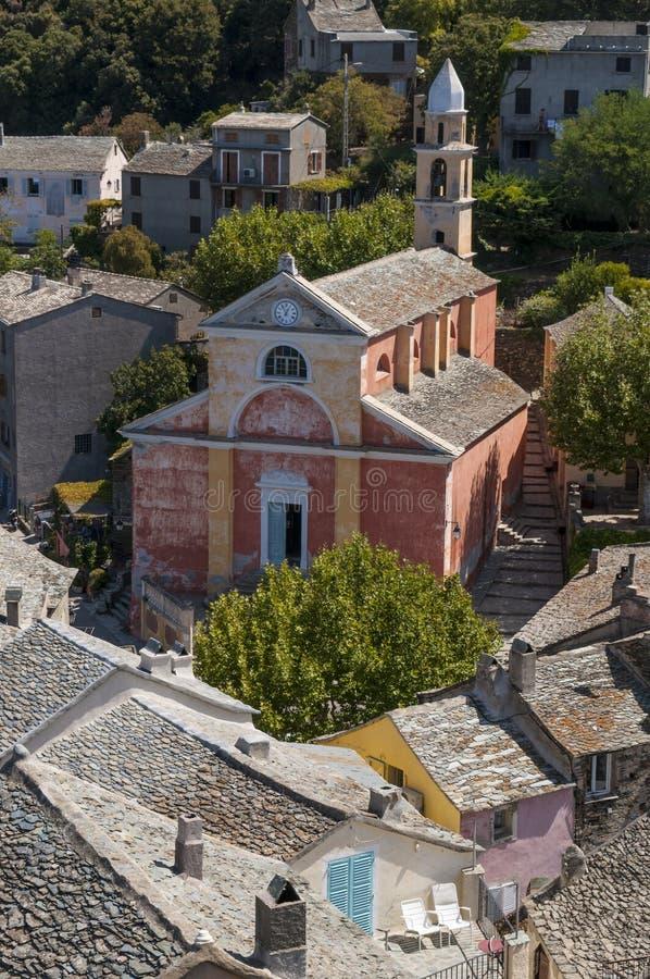 Nonza, Haute Corse, Corsica, Górny Corsica, Francja, Europa, wyspa obrazy stock
