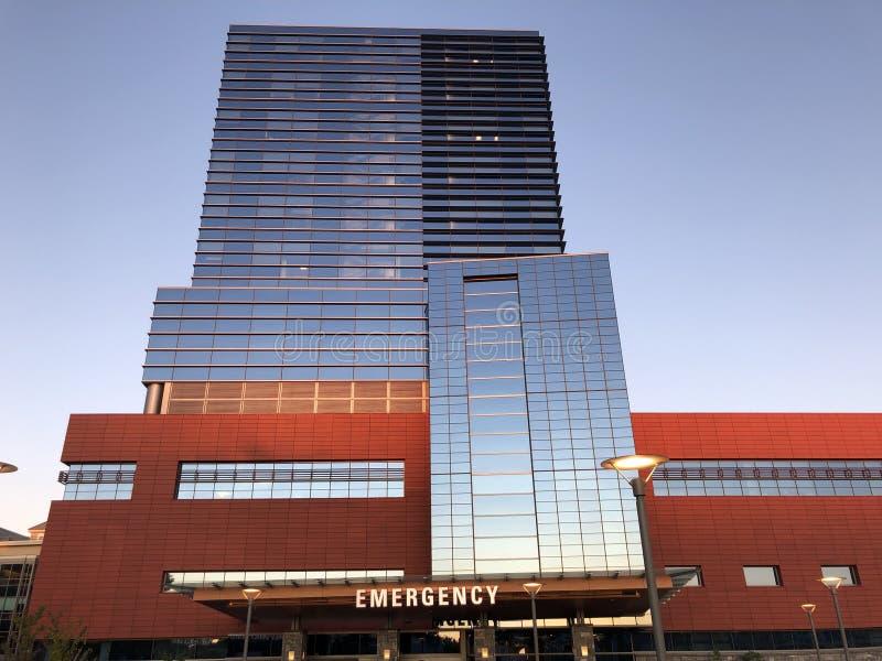 Noodcentrum in het Stamford-ziekenhuis in Connecticut stock afbeeldingen