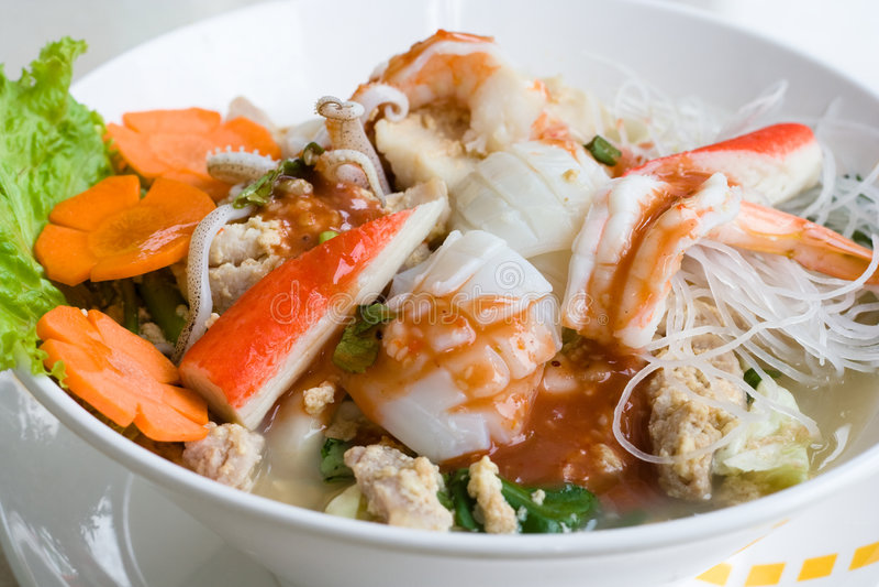 noodle θαλασσινά Ταϊλανδός στοκ εικόνα με δικαίωμα ελεύθερης χρήσης