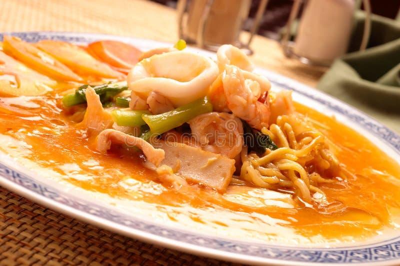 noodle θαλασσινά στοκ φωτογραφία