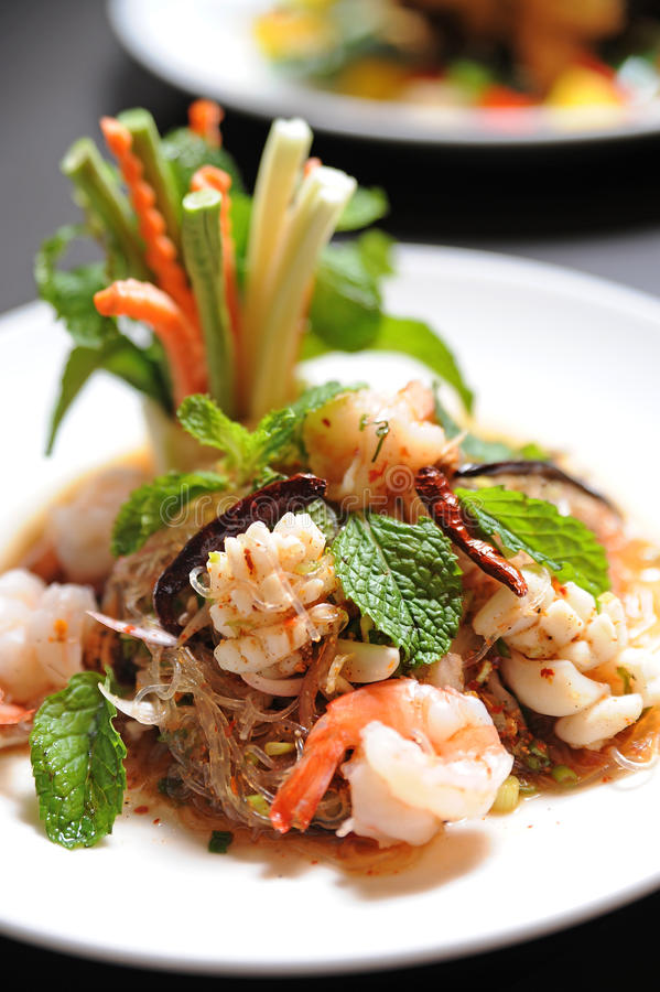 noodle σαλάτα Ταϊλανδός στοκ εικόνα